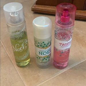 Vanilla Bean & Peppermint Bath & Body Works Lot
